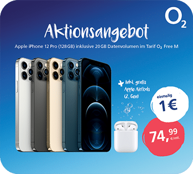 o2 – iPhone 12 Pro mit AirPods